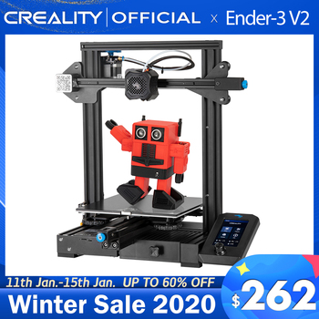 CREALITY 3D Ender-3 V2 Mainboard With silent TMC2208 Stepper Drivers New UI&4.3 Inch Color Lcd Carborundum Glass Bed Printer