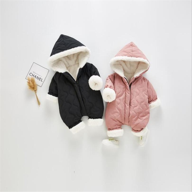 Baby Romper Newborn Baby Snowsuit Baby Winter Clothes Fleece Thick Warm Baby Girl Romper Hooded Baby Jumpsuit Baby Boy Romper