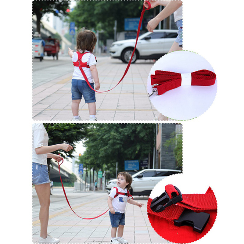 2019 Newst Baby Kids Safety Harness Strap Toddler Walking Anti-Lost Rope Traction Rope Baby Walking Harnesses Leashes Red Blue