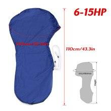 Couvercle protecteur pour moteur de hors-bord | 420D 6-15HP, bleu, étanche, pour moteur 6-15HP