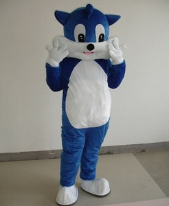 Xmas Blue Cat Mascot Animal Costumes Cartoon Adults Dress Up Props Perform Party High Quality Cartoon Character Unisex Clothing