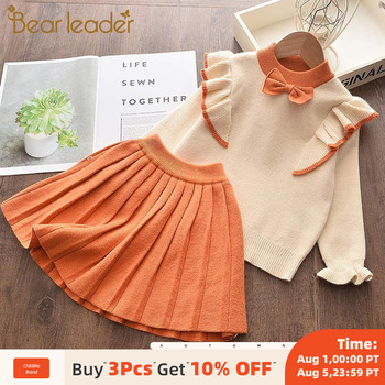 Bear Leader Girls Clothing Sets Autumn Children Clothes Sweater Skirt Suit Casual Kids Fashion Outfits for Girls Winter Costume girls clothes sport suit children clothing sets tracksuit for girls waterproof raincoat outfits suits costume for kids clothes