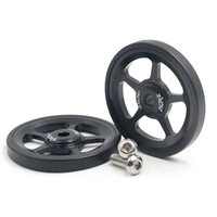 7075 Alloy 1Pair Super Lightweight Easywheel for Brompton Black/Silver/Gold|Bearings| |  -