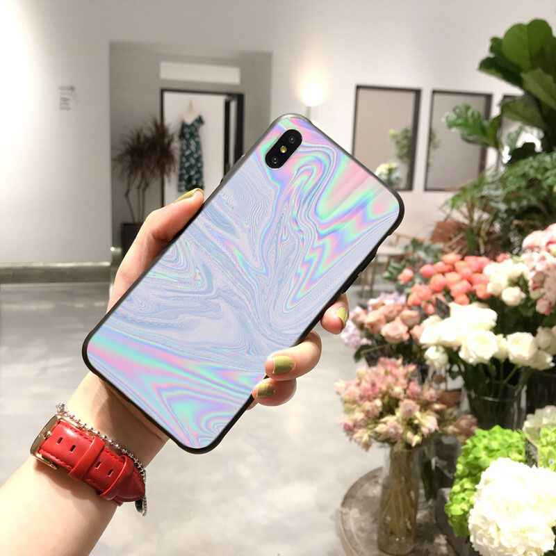 Pastel Metallic Tumblr TPU black Phone Case Cover Shell for iPhone 11 pro XS MAX 8 7 6 6S Plus X 5 5S SE XR case