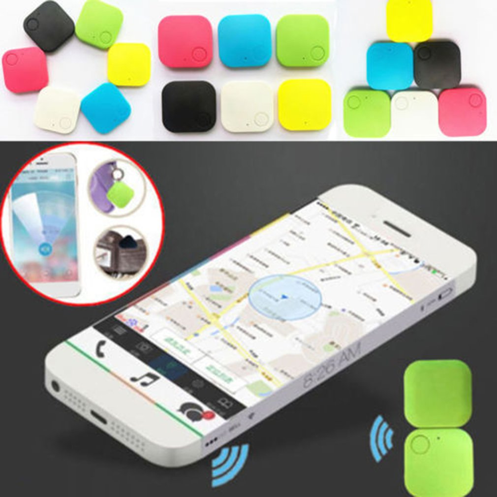 Square Anti-lost Car GPS Tracker Kids Pets Wallet Keys Alarm Locator Realtime Finder Trackr