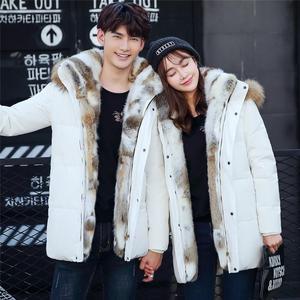 Image 4 - 2019 אופנה גברים ונשים דביבון פרווה צווארון חורף מעיל מעיל חם עבה ארנב פרווה מקרית מעילי גדול גודל 4XL 5XL