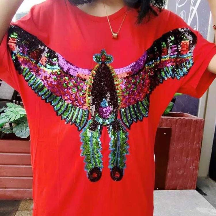 Autumn And Winter New Super Large Cloth Patch Sequins Applique Garment Accessories DIY Decorative Pattern Eagle