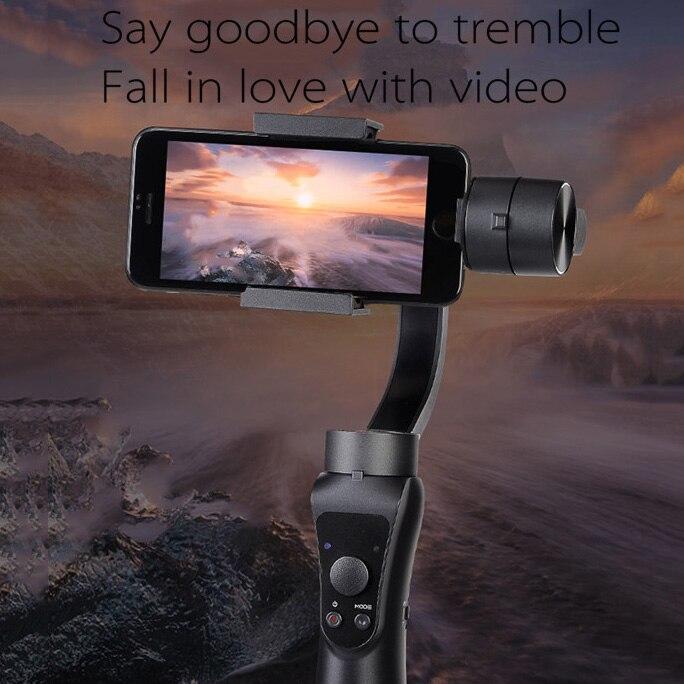 FFYY-stabilisateur de cardan stabilisateur Portable à main lisse 4 3 axes H avec mise au point pour Smartphone et caméra d'action enregistreur vidéo