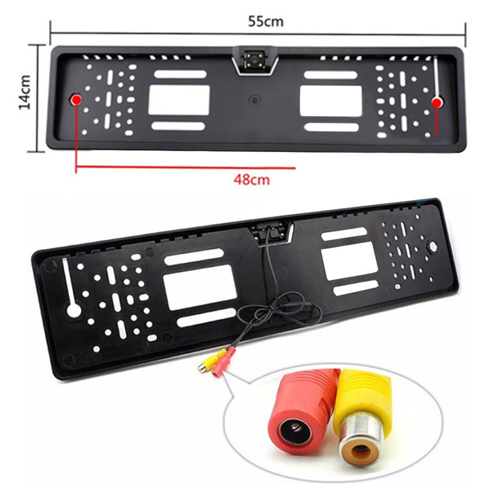 Universal Car Numbers European License Plate Frame Car Rear View Camera Reverse Backup Rearview Parking Camera License Frames
