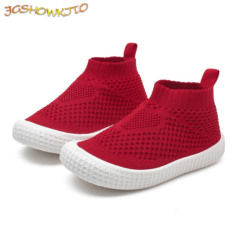 2019 Autumn New Kids Shoes Children Casual Sneakers For Boys Girls Baby Little Boy Girl Sock Shoes Soft Running Sports Sneakers