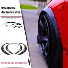 4pcs Black Universal Fenders Flares Flexible Durable PU Auto Car Body Kit Guard M8617