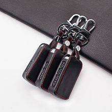 Stylish Leather Car Key Cover Case For Mazda 3 Alexa CX4 CX5 CX8 2019 2020 2/3/4 Buttons Smart Car Key Case Cap Holder