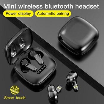 Prawdziwe bezprzewodowe wkładki douszne słuchawki Bluetooth sterowanie dotykowe z bezprzewodowym etui z funkcją ładowania IPX7 wodoodporne słuchawki TWS Stereo
