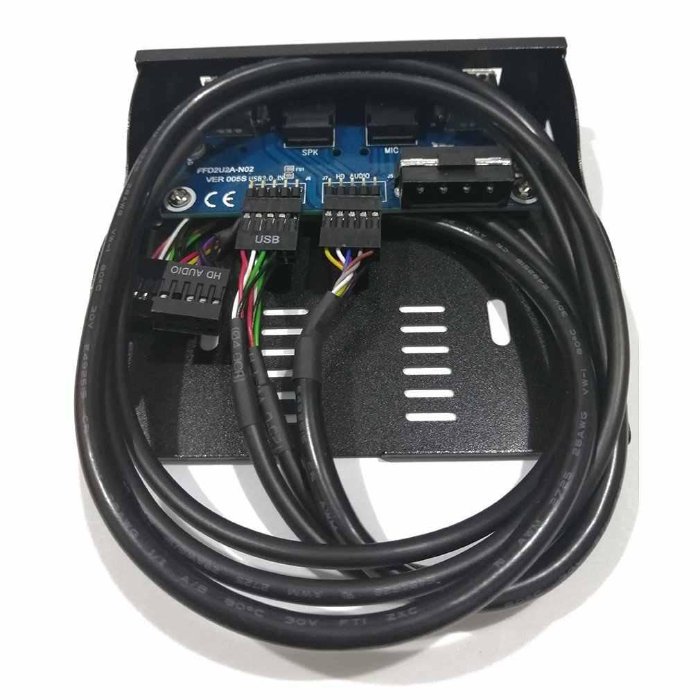 3,5 ''2-USB 2,0 порт концентратор HD аудио выход флоппи-накопитель расширение Передняя панель цифровая Мобильная стойка расширение для вашего ПК