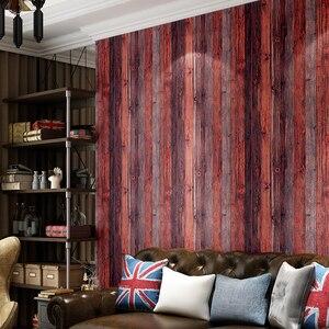 Image 3 - Beibehang木材壁紙リビングルームの装飾用衣料品店レストラン茶室エンジニアリング 3Dの壁紙紙