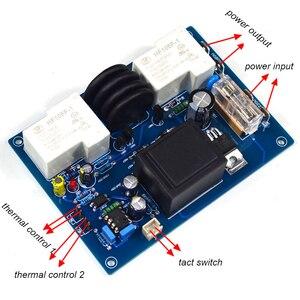 Image 2 - Lusya klasy A 220V wzmacniacz mocy temperatury miękkie opóźnienie startu płyta ochronna 2000W do wzmacniacza T0832