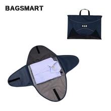 BAGSMART 17'' Travel Bags For Clothes&Shirt Nylon Luggage  Black Storage Bag Shirts
