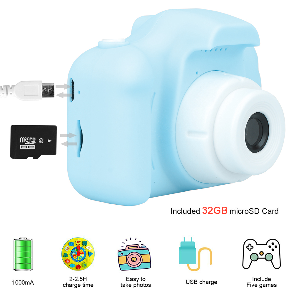 New Arrive  Cheap Rechargeable Photo Video Playback Cameras Kids Toy For Girl 32GB Mini Children's Camera Child Birthday Present 2