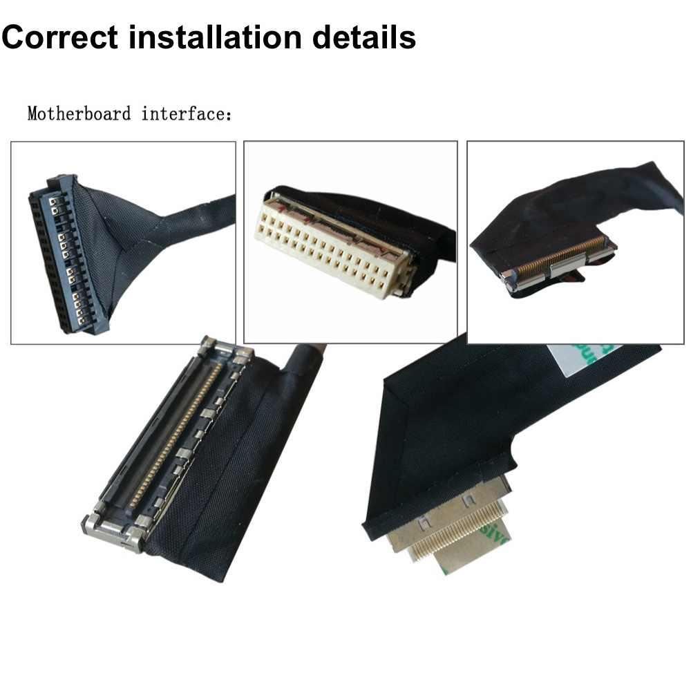 Cabo video do cabo flexível do diodo emissor de luz do lcd para sony sve17 sve171 sve171a sve171b1 cabo da tela de exibição p/n: 50.4mr05. 011