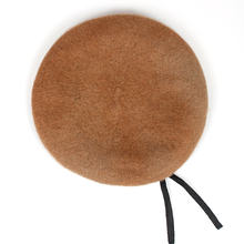 2019 new 1PC man 100% wool military beret Black red navy wool solid color army s