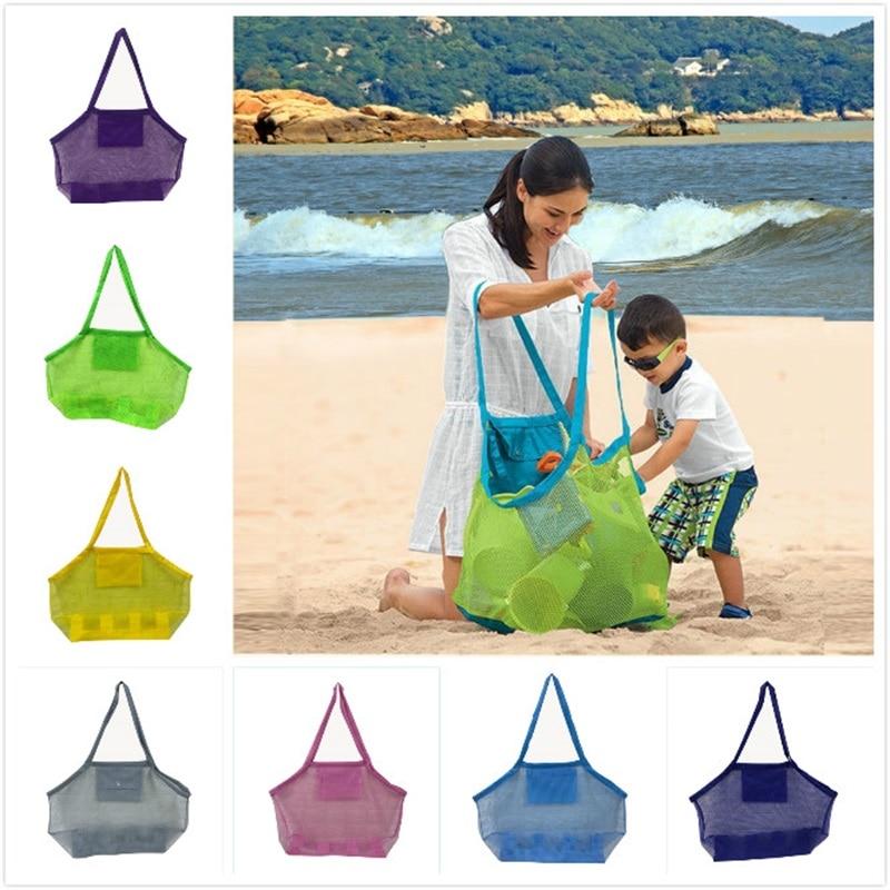 На открытом воздухе для детей и взрослых сумки для хранения сетчатый корпус песчаный пляж сумка для ракушек детские игрушки сетки песочниц...