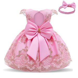 Baby Girls Lace Princess Dress 1st 2st Birthday Party Dress 1 2 Year Old Newborn Christening Gown Toddler Kid Christmas Clothing