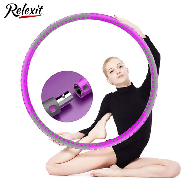 6 Parts Detachable Hola Hoops Sport Hoops Weight Lose Adjustable Waist Trainer Hoola Hoops Fitness Equipment Home Exercise 1