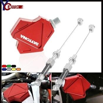 Para TRIUMRH DAYTONA 600, 650 de 675 675R 955i CNC accesorios de la motocicleta de aluminio de Motor palanca de embrague para acrobacias sistema de cable de tracción fácil