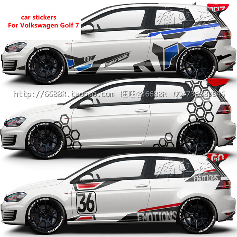 Car Stickers Pull Flower Decoration For Golf 7 Appearance Modification Stickers