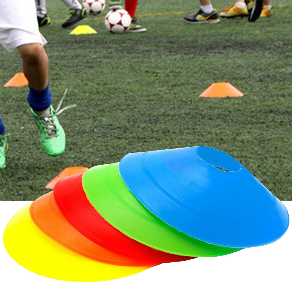 10pcs 19cm Cones Marker Discs Soccer Football Training Sports Football Obstacle Sign Plate Sign Road Sign Training Supplies