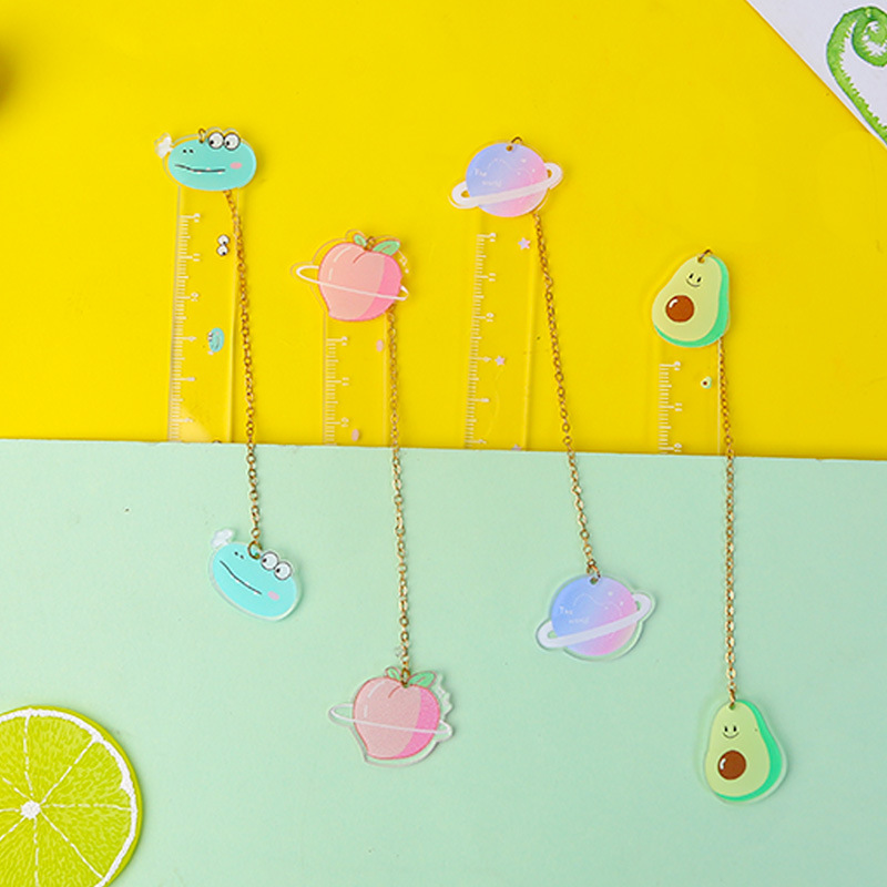 Cartoon Creativity Fruit Planet Lemon Ruler Measuring Straight Ruler Tool Promotional Gift Stationery