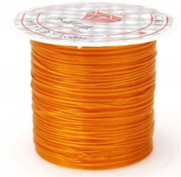 393 дюйма/рулон, крепкий эластичный шнур для бисероплетения с кристаллами, 1 мм, для браслетов, стрейчевая нить, ожерелье, сделай сам, для изготовления ювелирных изделий, шнуры, линия - Цвет: Color 4