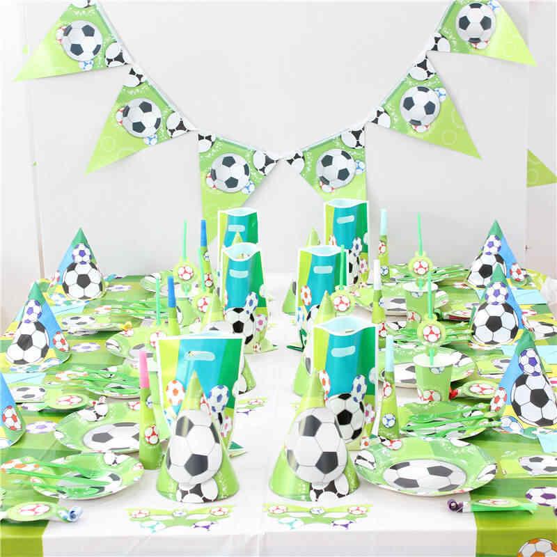 لوازم الطاولة/المائدة قابل للتصرف كرة القدم العالم Cu الدوري موضوع المائدة الضوضاء صانع ألعاب احتفالات ديكورات اللباس عيد ميلاد