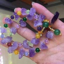 Natural amethyst original stone DIY bracelet fashion popular jewelry