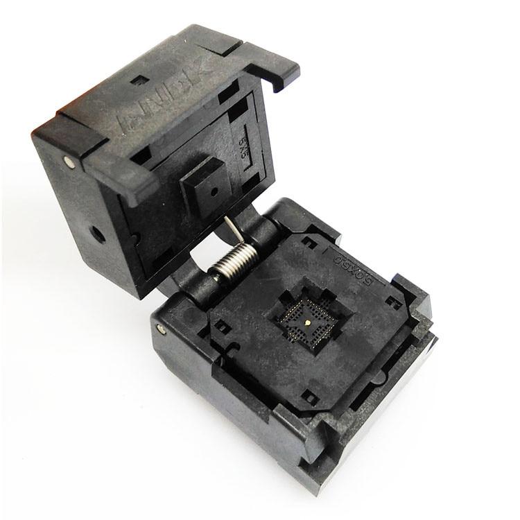 QFN40 MLF40 graver dans la prise IC549-0404-004-G IC Test pas de prise 0.4mm puce à clapet taille 5*5 adaptateur Flash graver dans la prise