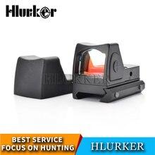 Mira telescópica óptica para caza Glock, mirilla de punto rojo Micro réflex, brillo ajustable, para Rifle, Airsoft