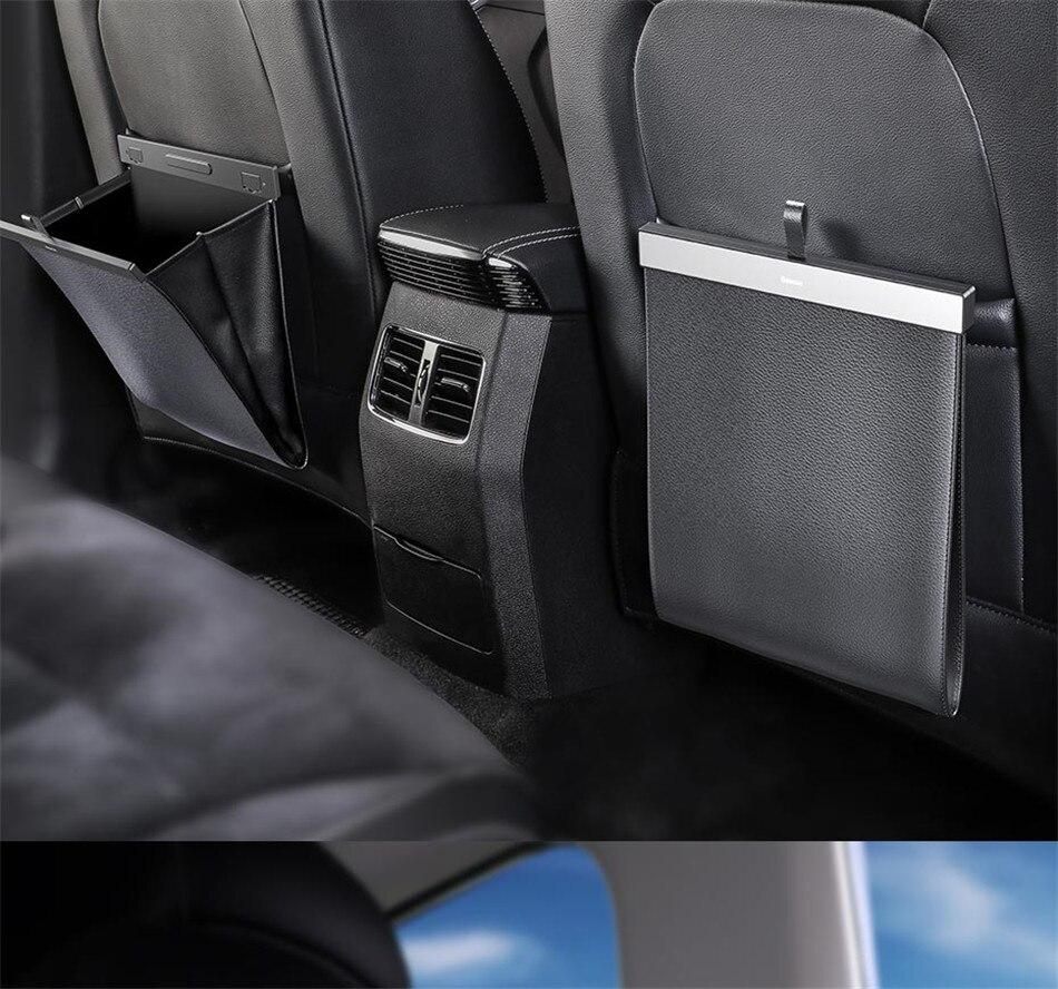 Baseus Car Organizer Backseat Storage Bag Magnetic Auto Pocket Holder Car Accessories Car Trash Bin Garbage Can Dustbin Car Bag