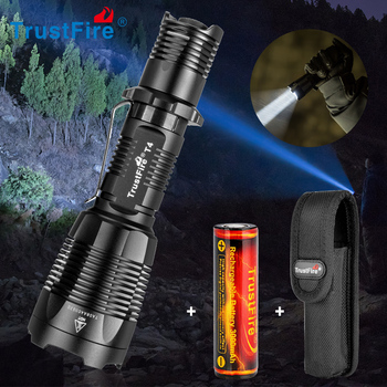 Trustfire T4 tactical led flashlight 18650 led torch camping flash light 5 switch Modes taschenlampe 18650 battery torch light uniquefire 5 modes 1200lm 1605 67 lens tactical flashlight cree xml torch led waterproof flash light 18650 rechargeable battery