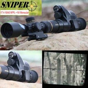 Mira telescópica de Rifle de visión nocturna VT 4-16X40 FFP, primer plano focal, mira telescópica con visión nocturna, Monocular, cámara táctica de caza