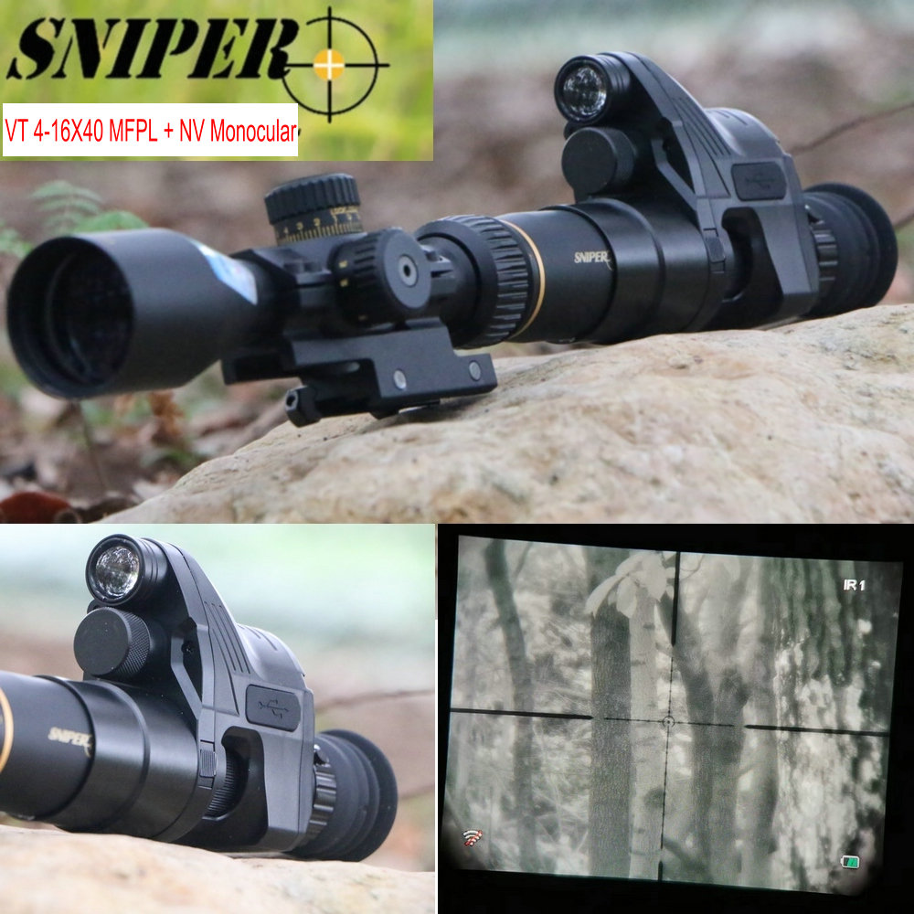 Night Vision Riflescope SNIPER VT 4-16X40 FFP First Focal Plane Rifle Scopes W/ Night Vision Monocular Tactical Hunting Camera
