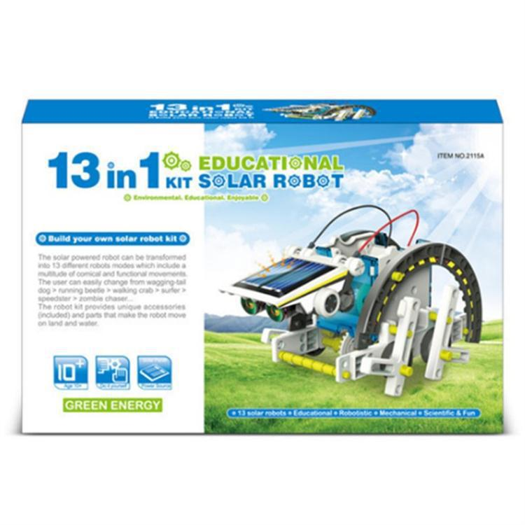 Science China Science Publishing & Media Ltd.(cspm) Stem Toy DIY Solar Robot Thirteen One 13-in-1diy Educational Assembled Toys