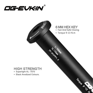 Image 4 - OG EVKIN QR 002 Road Disc Brake Quick Release M12*P1.5 Thru Axle 12x142mm Rear/12x100mm Front Bicycle Skewers For Road Disc QR