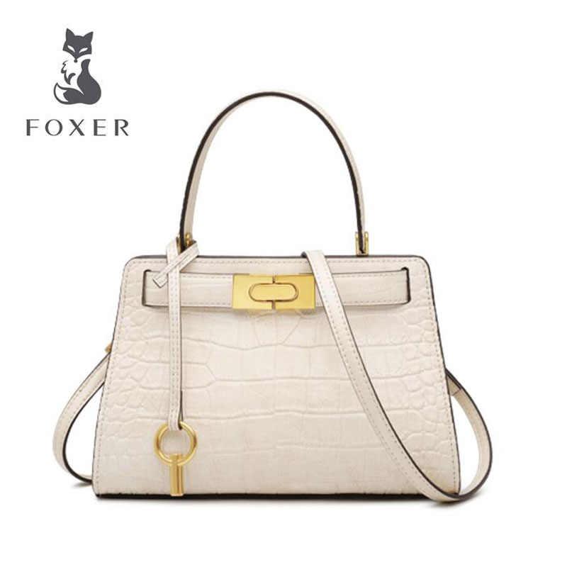 Foxer saco de couro das mulheres padrão de crocodilo bolsa de moda bolsas de luxo sacos de designer sacos de marca famosa