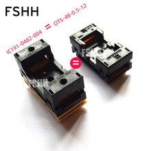 цена на IC191-0482-004 instead of OTS48-0.5-12 test socket 0.5mm TSOP48 socket NAND FLASH chip test socket