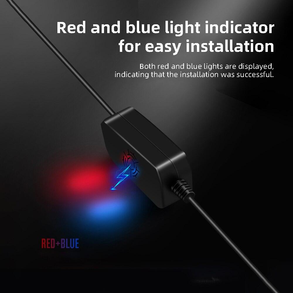 AZDOME 12/24V до 5V Mini USB Комплект жестких дисков DVR Мощность кабель с адаптером для M11 M06 GS63H PG01 PG02 Dash Cam низкая Напряжение защиты