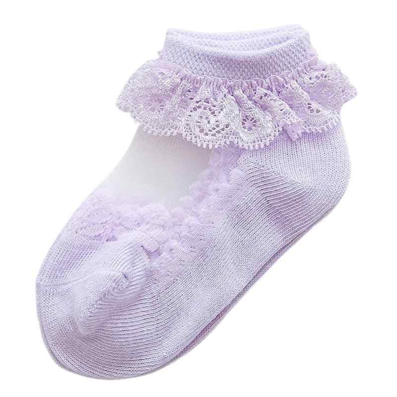1 par de calcetines tobilleros transpirables de princesa con volantes y volantes para bebés y niñas, tutú de gasa con encaje para recién nacidos, bonito lazo de verano para niños