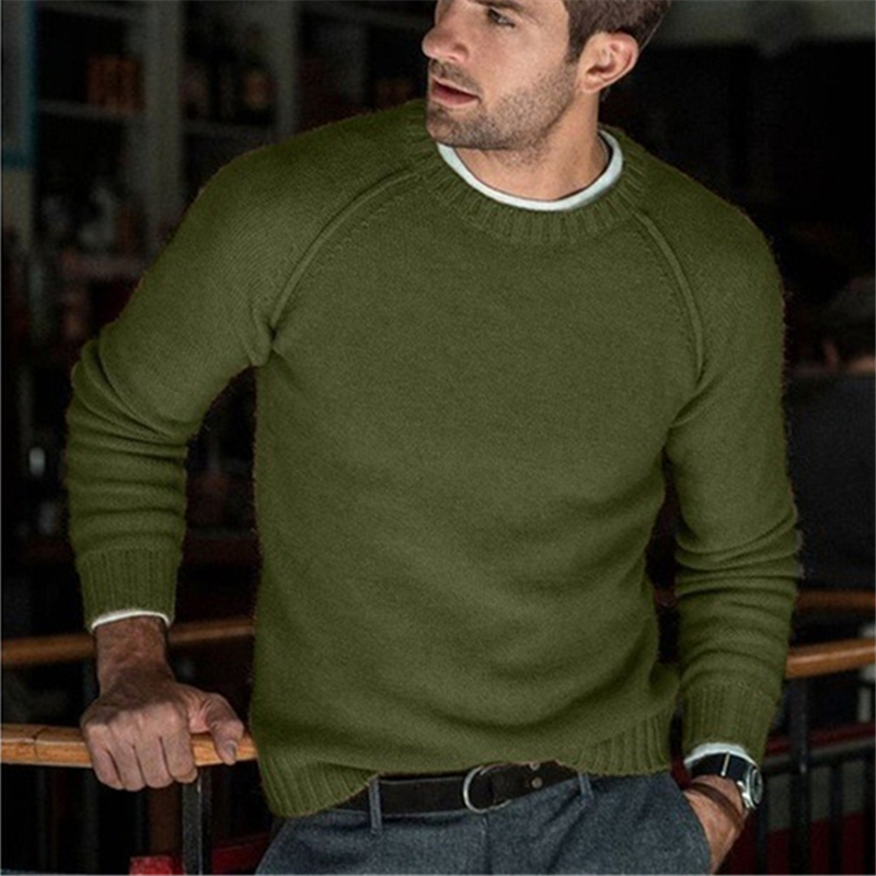 2019 Cotton Sweater Men O-neck Wool Sweaters Solid 9 Colors Mens Jumper England Style Gentleman Male Classic Pullover Autumn New