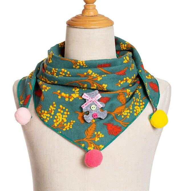 Весенние клетчатые треугольные шарфы в горошек для маленьких девочек; осенне-зимняя шаль для мальчиков и девочек; Детские хлопковые воротники; теплый детский шейный платок - Цвет: A6