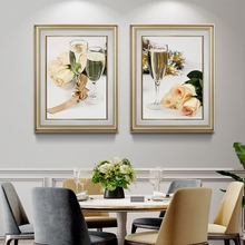Champagne Rose Posters And Prints Wall Pictures For Restaurant Wedding Decoration Picture Canvas Home Decor