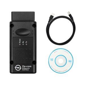 Image 2 - OPCOM con PIC18F458 FTDI Chip V1.70 V1.78 V1.95 V1.99 OBD2 CAN BUS lettore di codice strumenti automatici per Opel OPCOM aggiornamento diagnostico per Auto